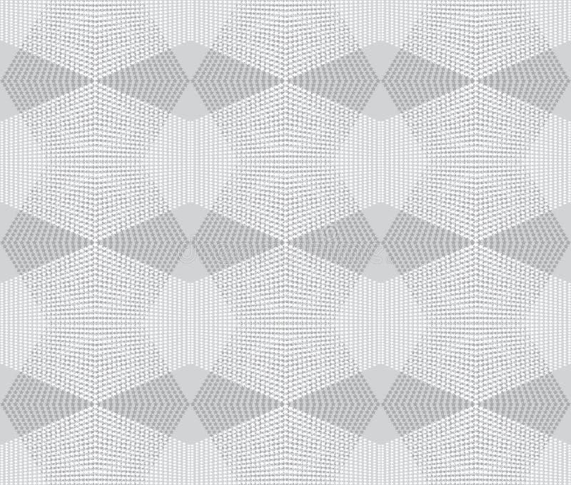 Vit sömlös textur Rengöringsdukbakgrund med romber, stjärnor royaltyfri illustrationer