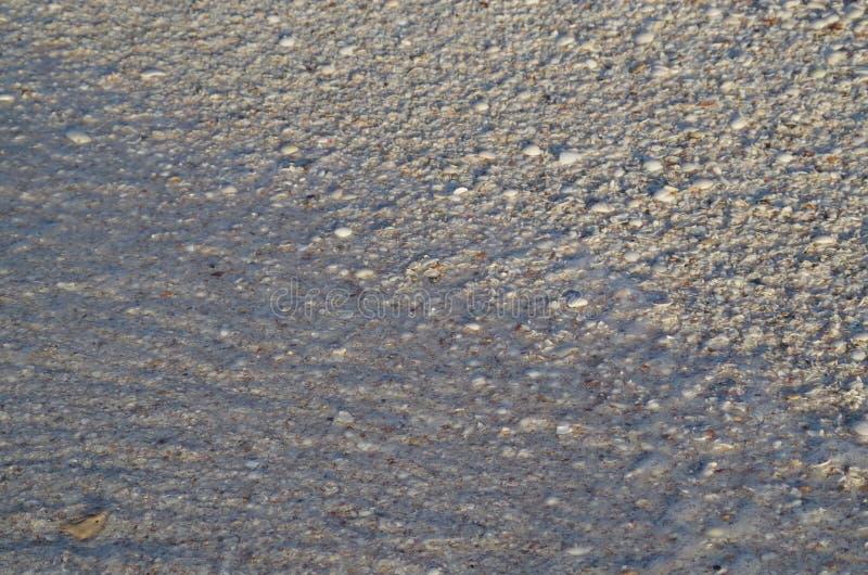 Vit sand i Mexico arkivbild