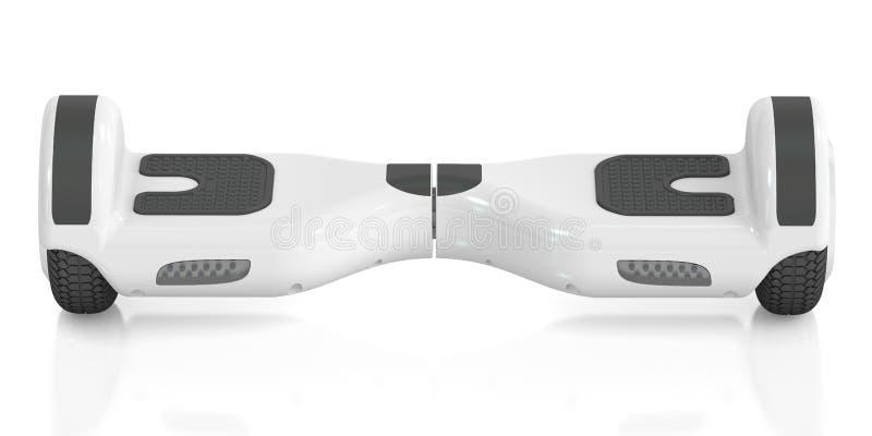Vit själv-balansera sparkcykel, tolkning 3D vektor illustrationer