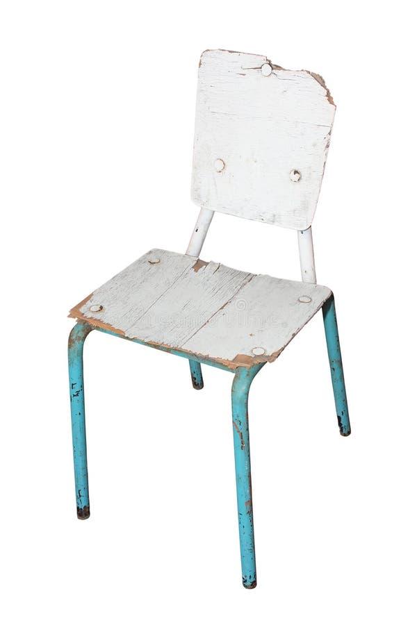 Vit skadad stol arkivbilder