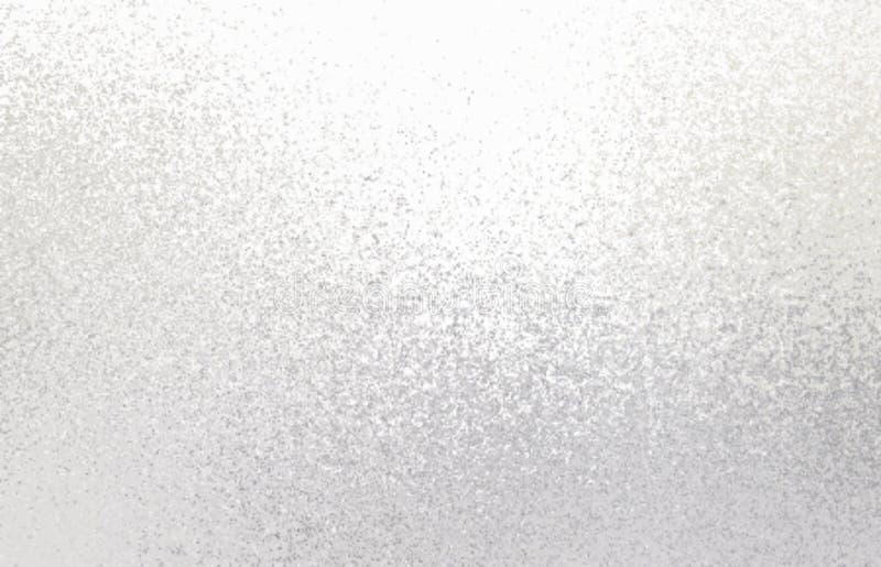 Vit skimrar bakgrund Ljus frostig textur royaltyfri illustrationer