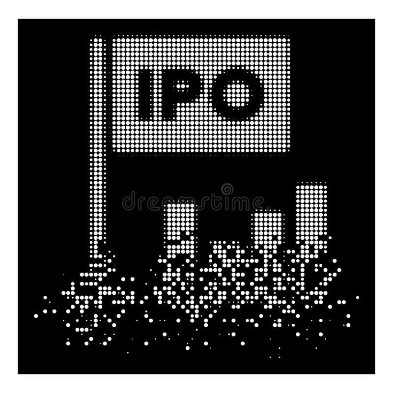 Vit skingrad symbol för Pixelated rastrerad IPO stångdiagram vektor illustrationer