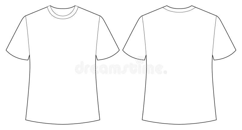 Vit skjorta vektor illustrationer