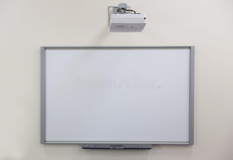 vit skolförvaltning och projektion royaltyfri fotografi
