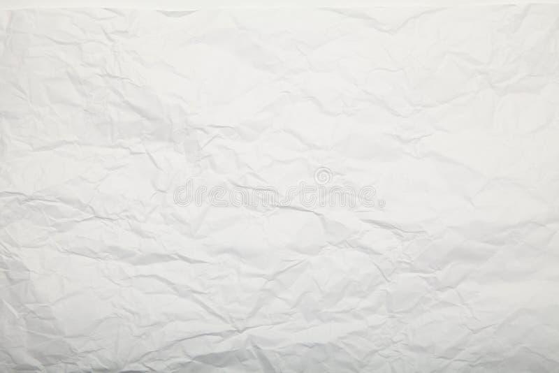 Vit skrynklig paper textur f?rsiktig bakgrund royaltyfria bilder