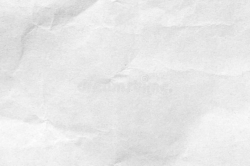 Vit skrynklig pappers- texturbakgrund N?rbild fotografering för bildbyråer