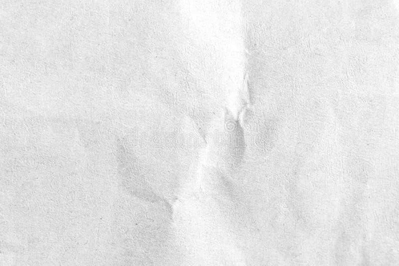 Vit skrynklig pappers- texturbakgrund N?rbild royaltyfri bild