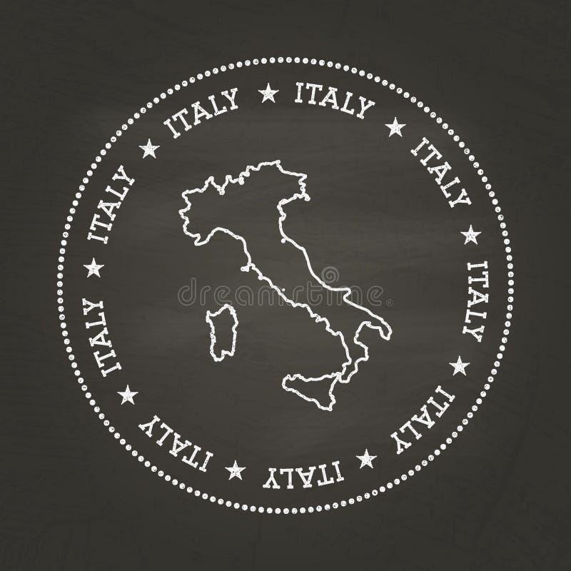 Vit skyddsremsa för kritatexturtappning med italienare royaltyfri illustrationer