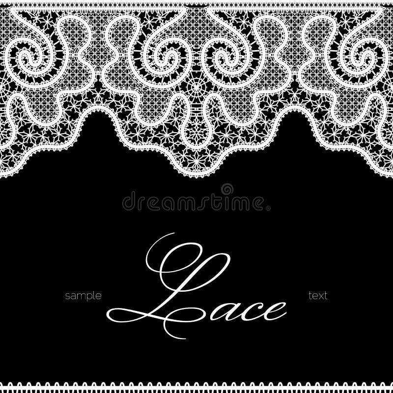 Vit snör åt på svart royaltyfri illustrationer