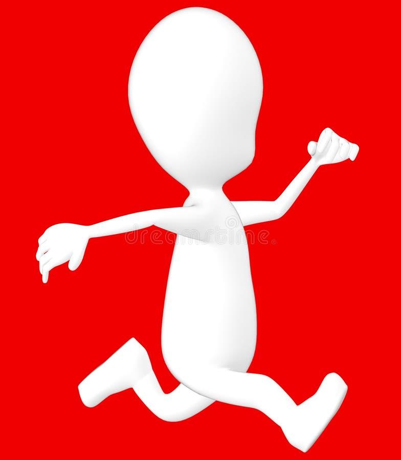 vit spring för tecken 3d royaltyfri illustrationer