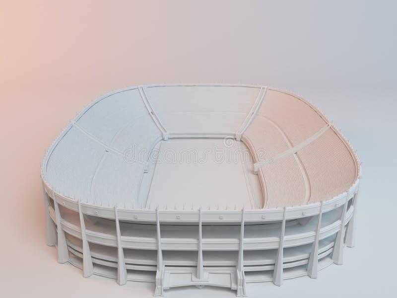 Vit stadion 3d vektor illustrationer