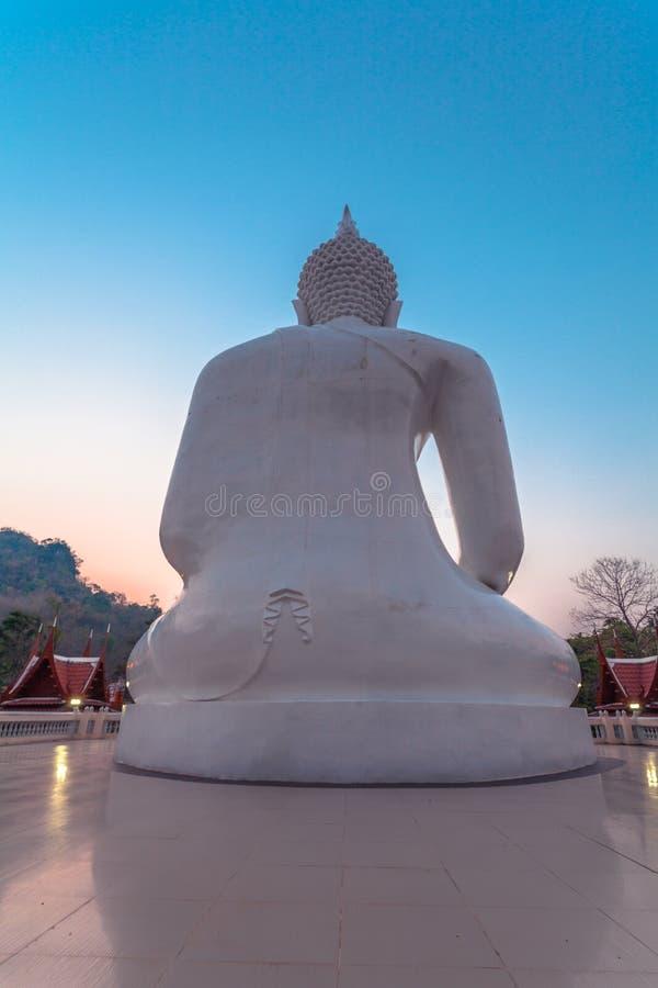 vit staty buddha arkivfoton