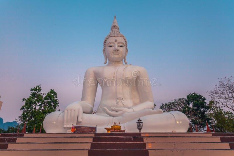 vit staty buddha arkivbilder