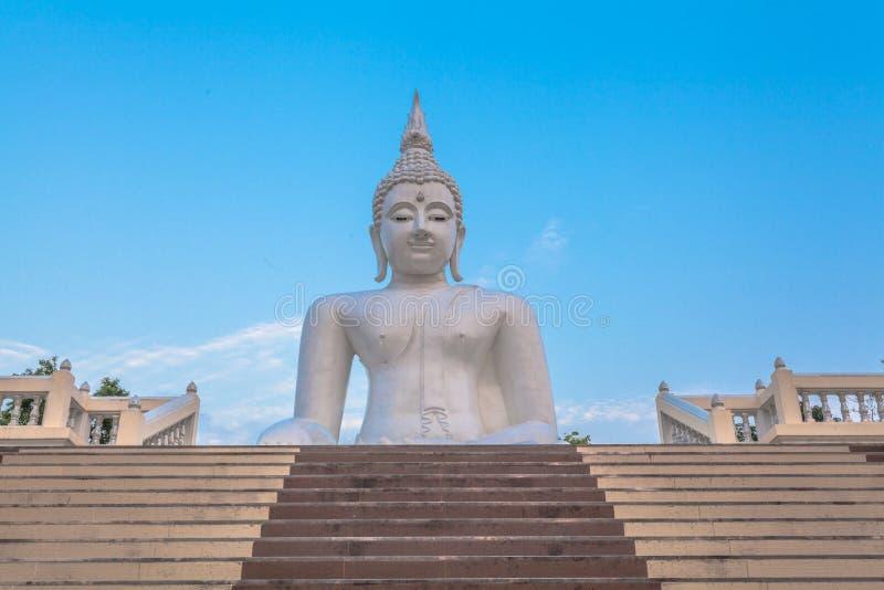 vit staty buddha fotografering för bildbyråer