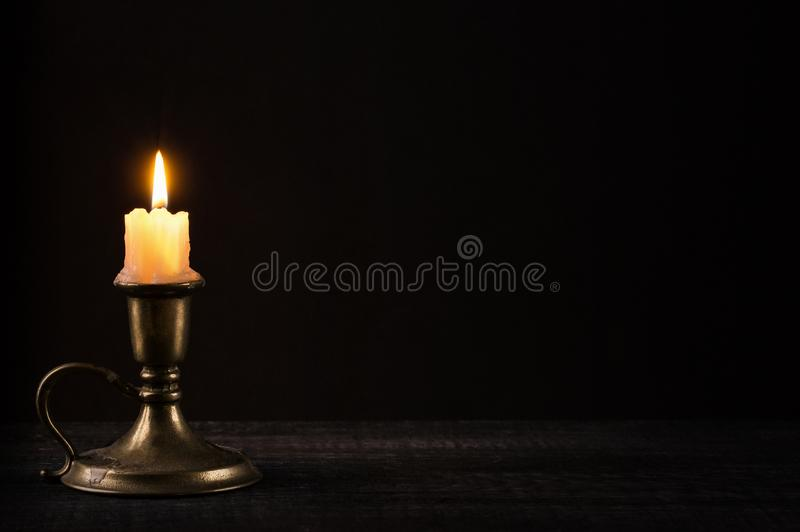 Vit stearinljus fotografering för bildbyråer