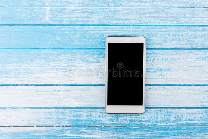 Vit stor skärmSmart telefon med reflexion på hög kontrast B arkivbilder