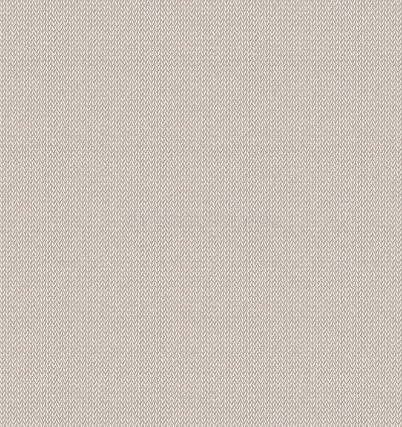 Vit stucken sömlös bakgrund för tygtextur Realistisk rät maskavektormodell Illustration för vintertröjajul nytt år royaltyfri illustrationer