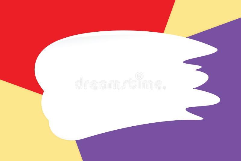 Vit suddkräm på färgrika pastellfärgade mjuka pappers- bakgrundsskönhetsmedel för kopia gör mellanslag meddelandet, lekmanna- sti royaltyfri illustrationer
