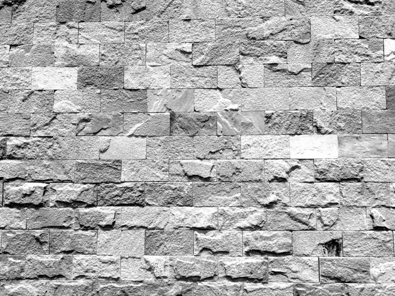 Vit svart och grå dimmig tegelstenvägg för bakgrund eller textur fotografering för bildbyråer