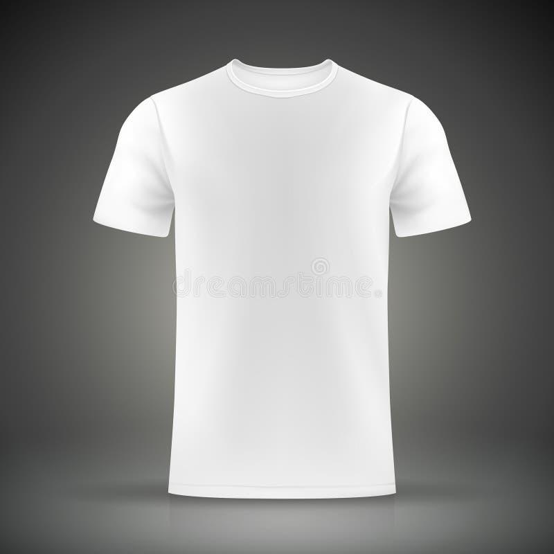 Vit t-skjorta mall stock illustrationer