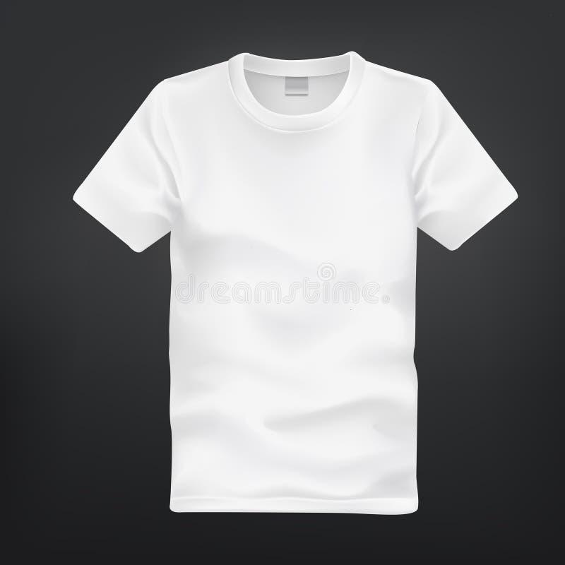 Vit t-skjorta mall vektor illustrationer