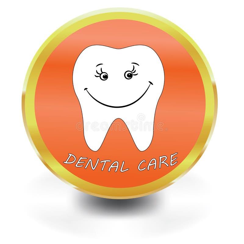 Vit tandsymbol, tandvård, vektor illustrationer