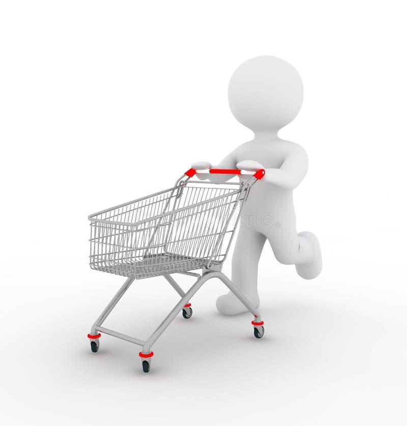 Vit tecken och shopping vektor illustrationer