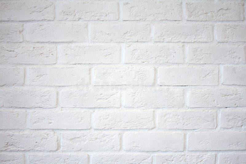 Vit tegelstenvägg Vit tegelstenvägg arkivbild