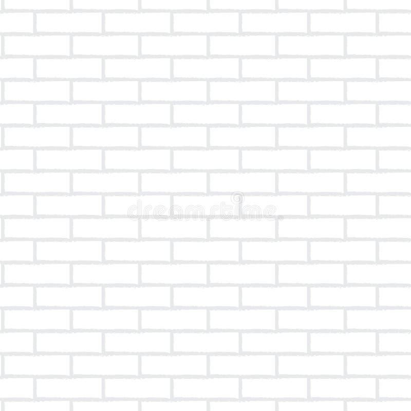 Vit tegelstenvägg stock illustrationer