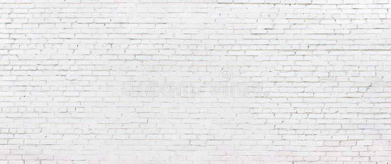 Vit tegelstenvägg för Grunge, kalkad murverkbakgrund royaltyfri fotografi