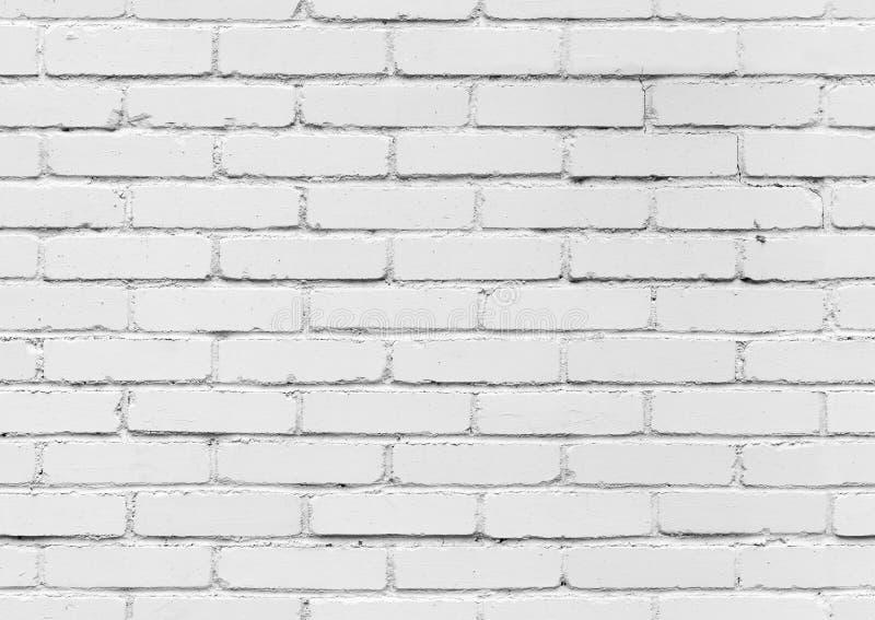 Vit tegelstenvägg, sömlös bakgrundstextur royaltyfria bilder