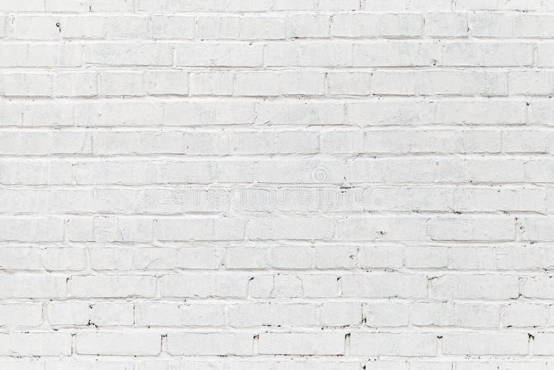 Vit tegelstenvägg. Sömlös fototextur arkivbilder