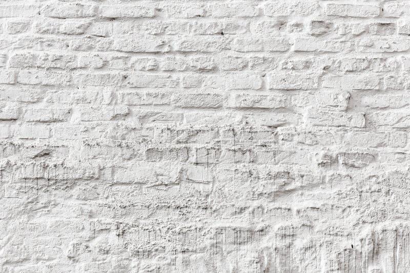 Vit textur för grunge för tegelstenvägg royaltyfria foton