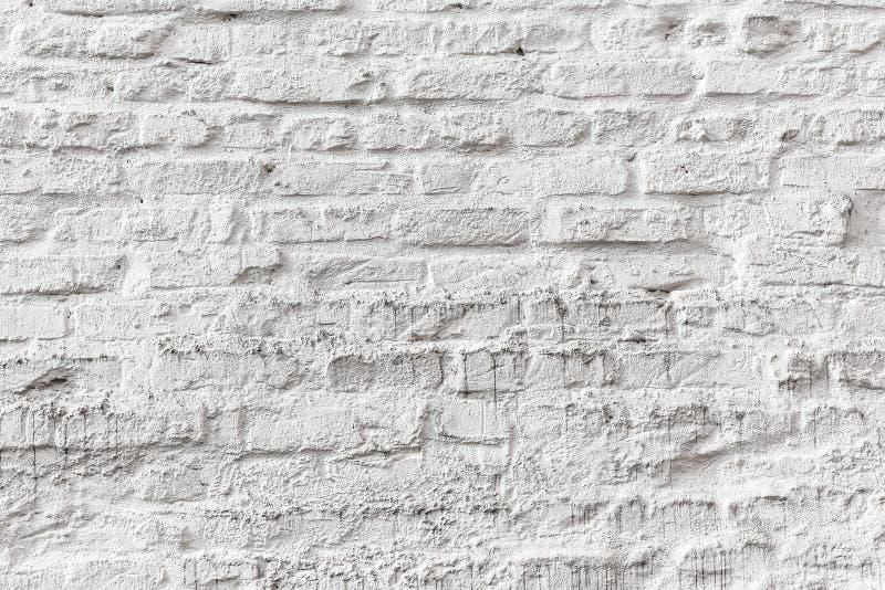 Vit textur för grunge för tegelstenvägg arkivfoton