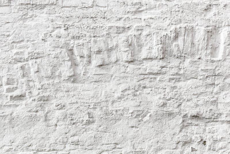 Vit textur för grunge för tegelstenvägg arkivbild