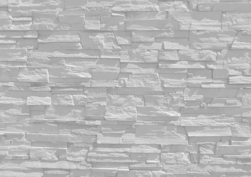 Vit textur för vägg för dekorativ sten arkivfoto