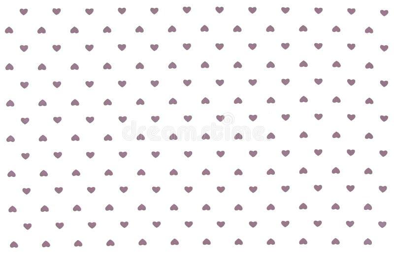 Vit torkduk med gråa hjärtor modell, bakgrund vektor illustrationer