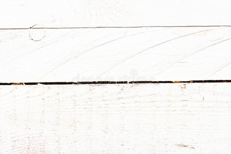 Vit träbakgrund, tappning Grey Timber Plank Wall arkivfoto