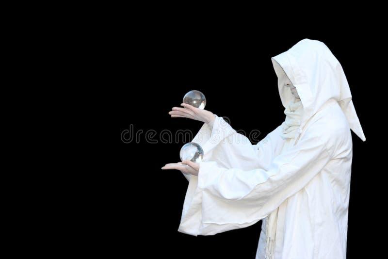 vit trollkarl royaltyfria bilder