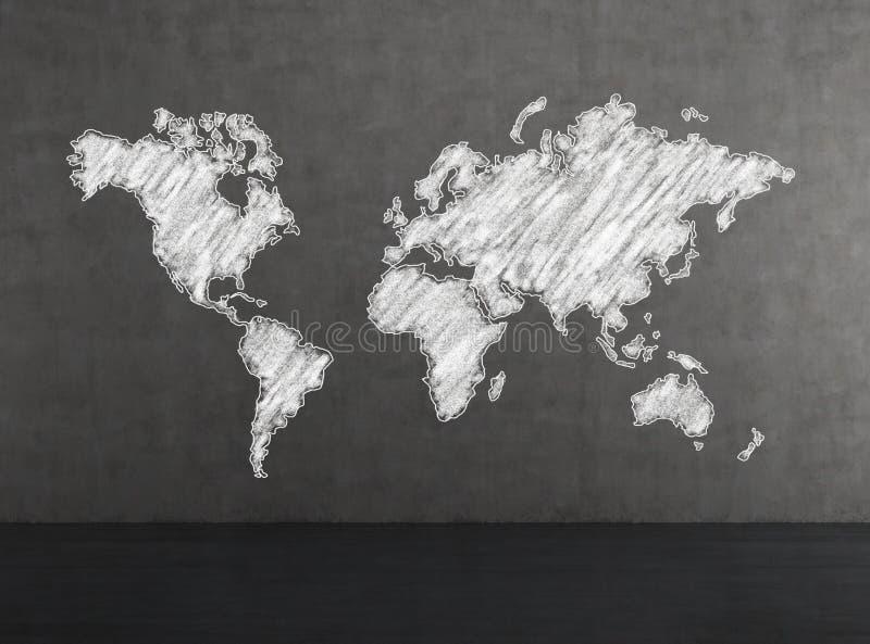Vit världskarta arkivbild