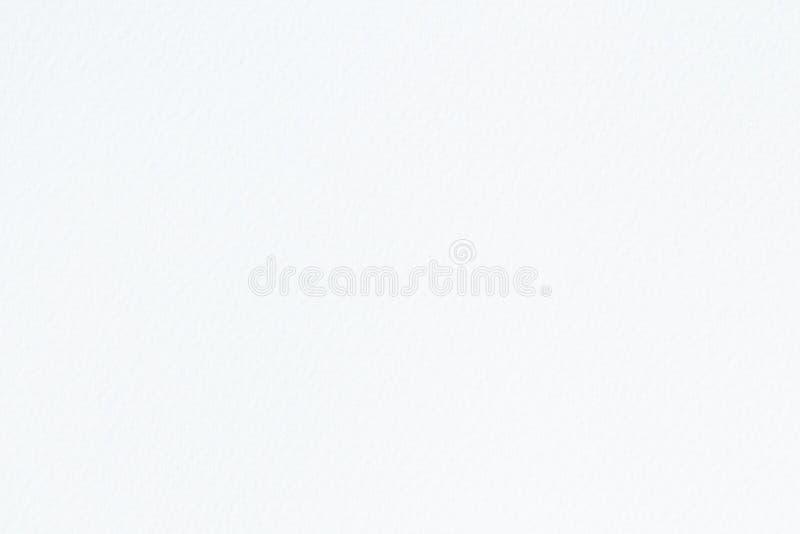 Vit vattenfärgpapperstextur för bakgrund, abstrakt yttersida som textureras för design royaltyfria bilder