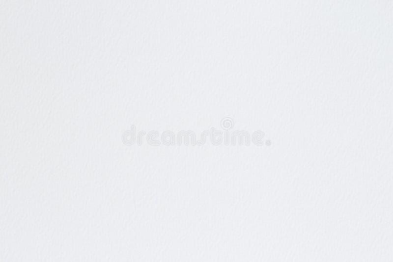 Vit vattenf?rgpapperstextur f?r bakgrund, abstrakt yttersida som textureras f?r design royaltyfri bild