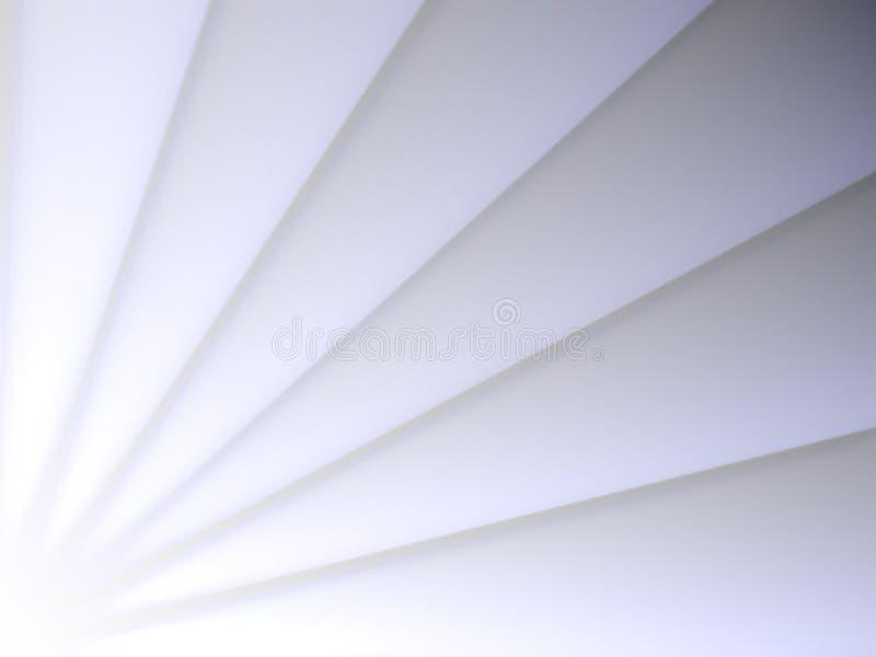 Vit vinkelformig triangelmodell Pappers- klippt bakgrund för designbegrepp stock illustrationer
