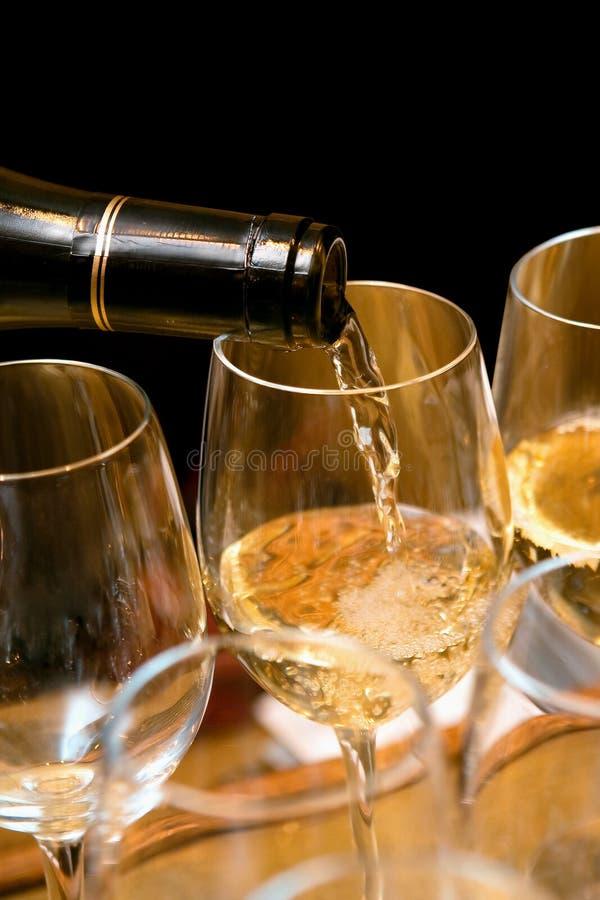 vit wine royaltyfri fotografi