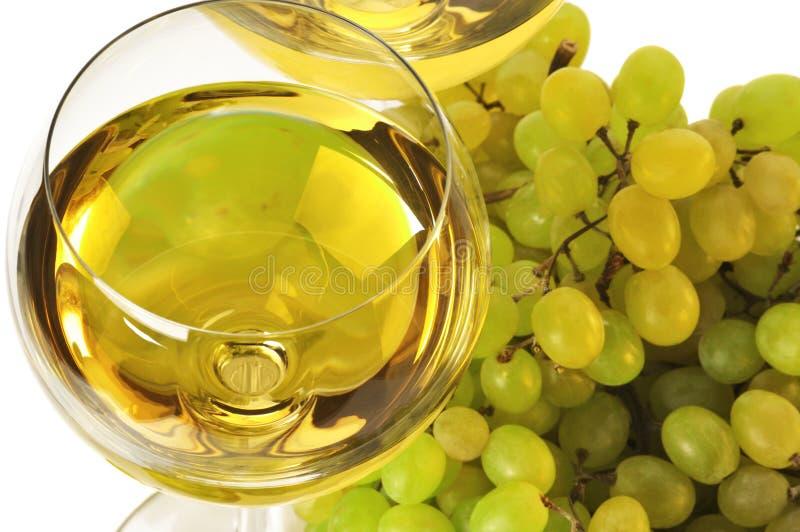 vit wine för druva arkivbild