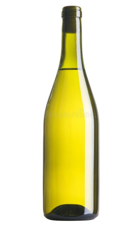 vit wine för flaska arkivfoto