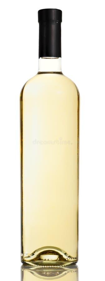 vit wine för flaska royaltyfri bild