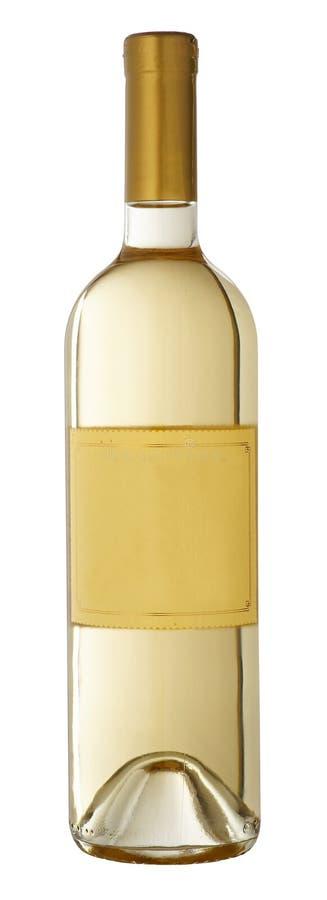 vit wine för flaska arkivbild