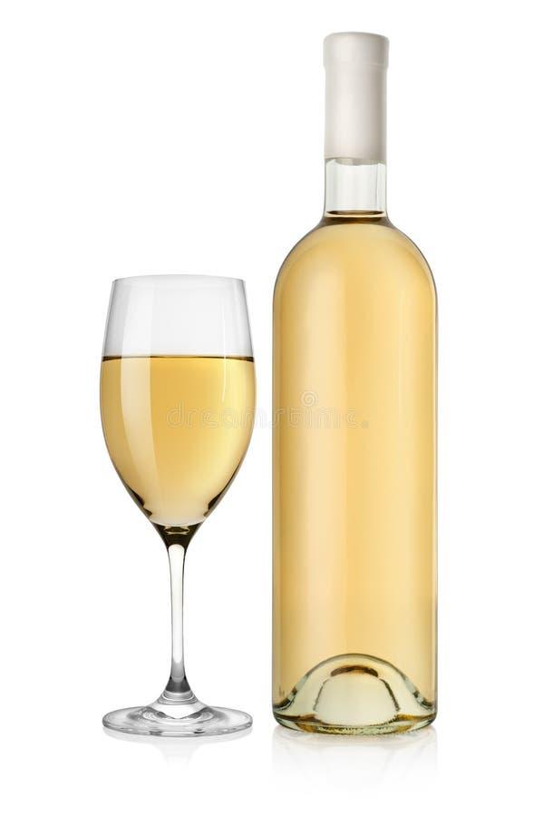 vit wine för flaskexponeringsglas royaltyfri bild