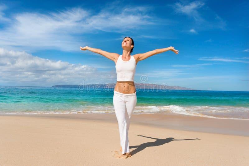 vit yoga arkivfoto